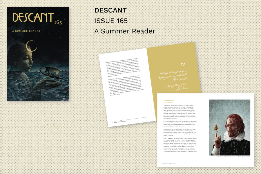 Descant magazine issue 165 cover and sample spreads
